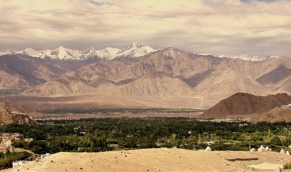 View of Leh Town/Pic : Rajat Jamwal